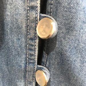 Dresses - Vtg denim jean button down corset maxi dress sz 8